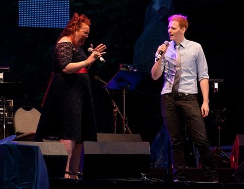 Hitchins performing with Sharron Matthews, Luminato 2011